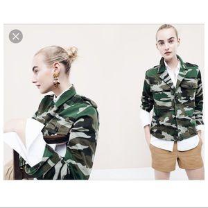 J Crew Camouflage utility shirt-jacket